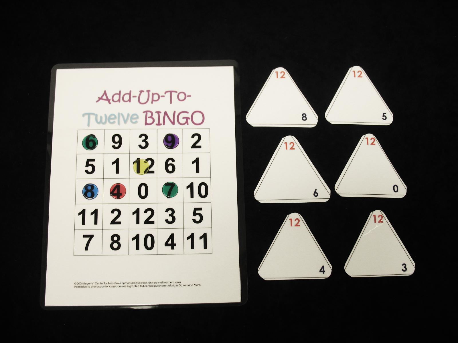 Add Up to 12 Bingo
