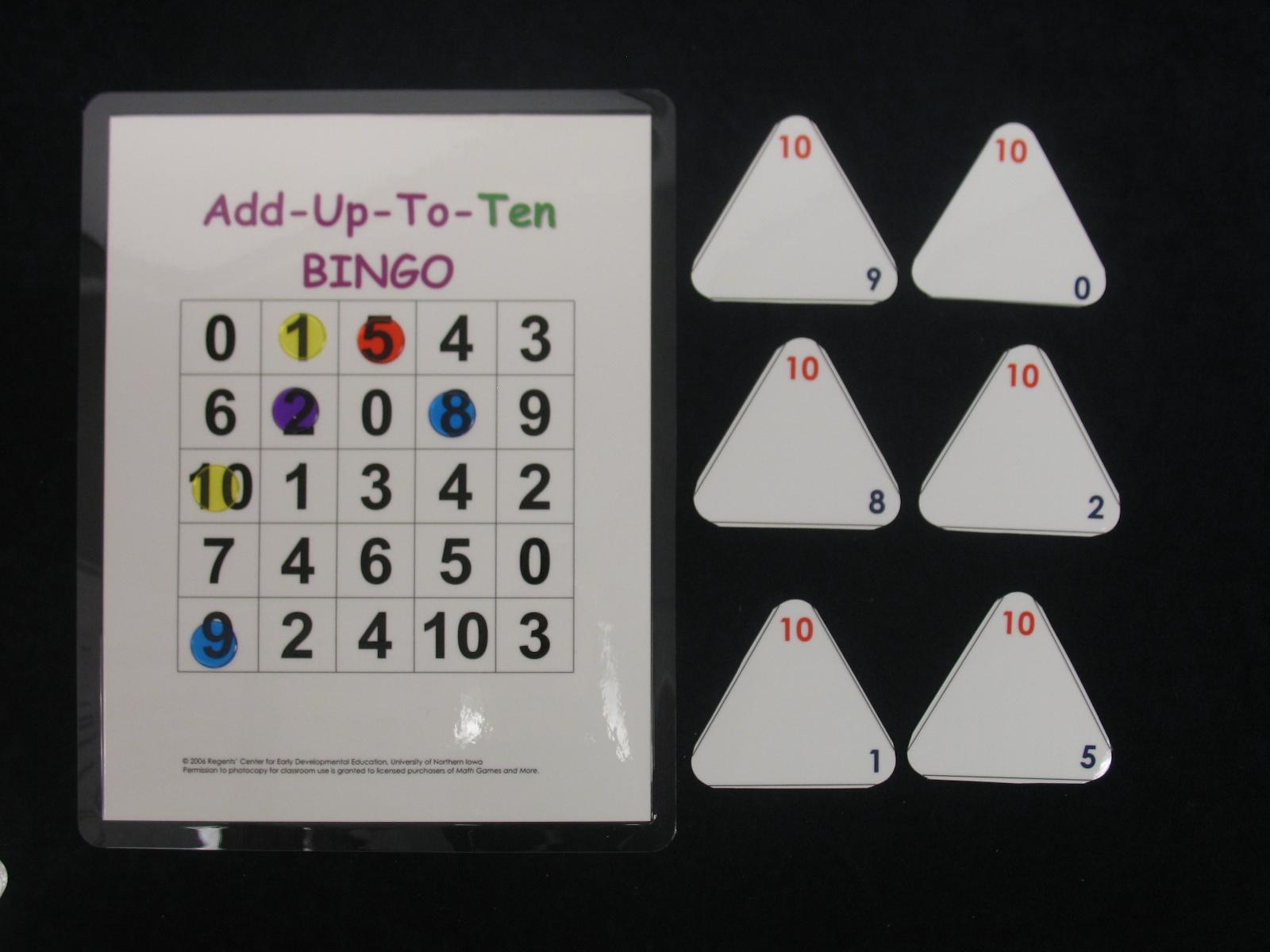 Add Up to 10 Bingo