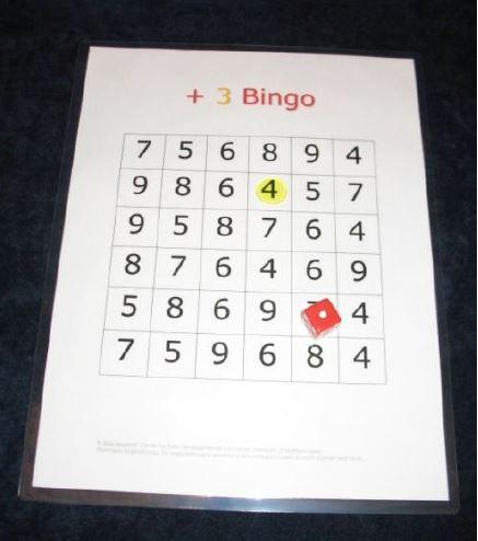 Plus Three Bingo