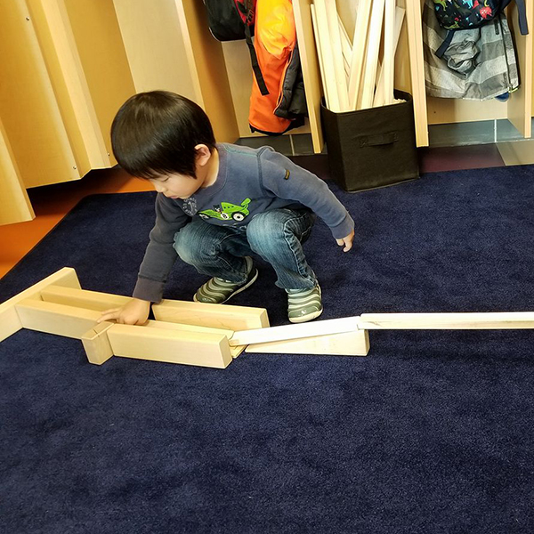 child building with ramps