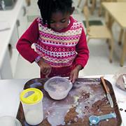 child making pudding