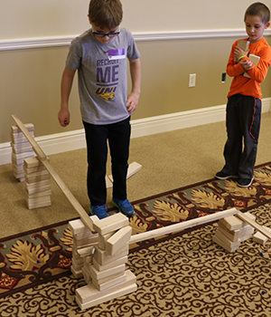 children building ramps