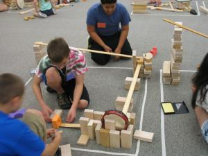 Children utilizes ramps and pathways