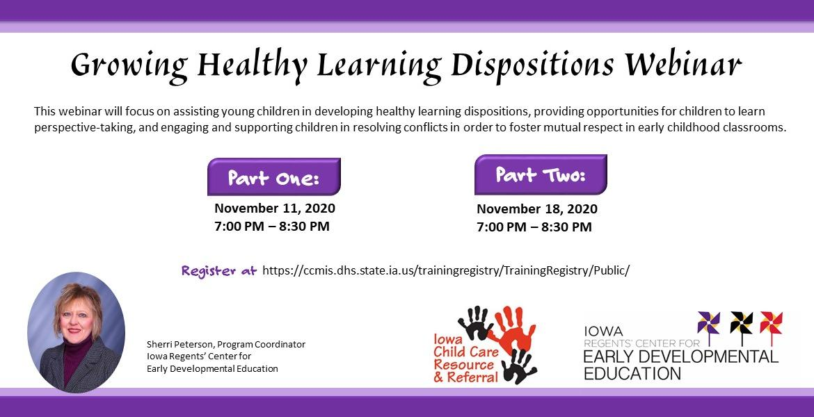 Growing Healthy Learning Dispositions Webinar