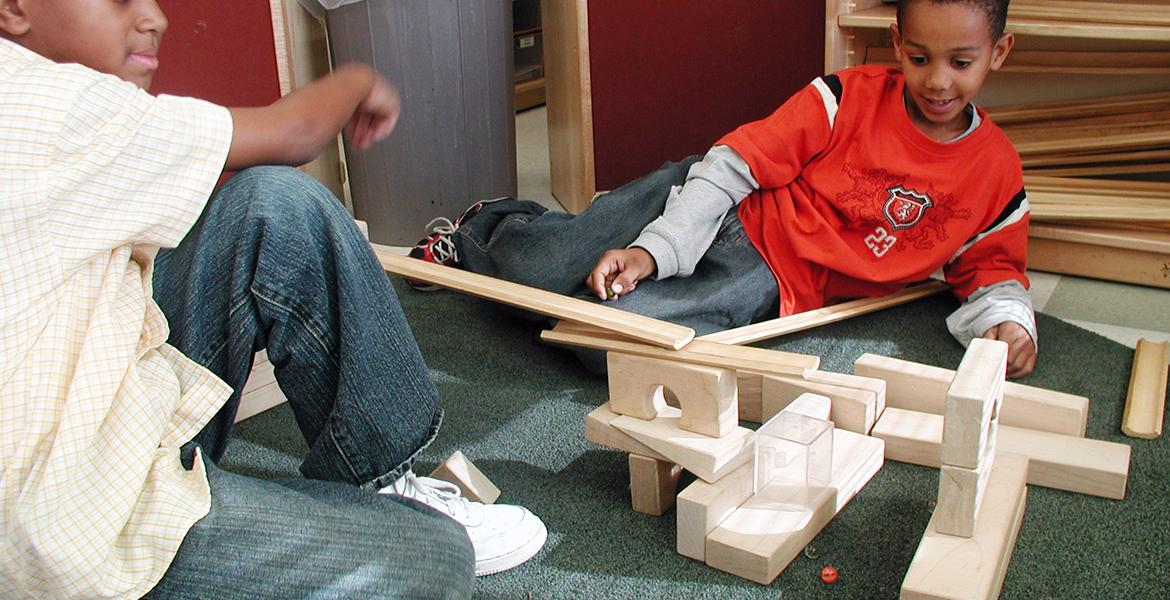 children building with ramps